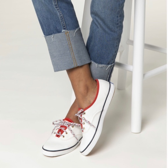 Keds Women's Champion white red sneakers size 8